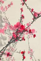 Cheng Shengda b.1941 Chinese Watercolor Paper Roll