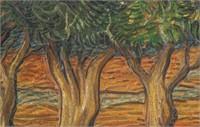 Dutch Post-Impressionist Oil Canvas Signed Vincent