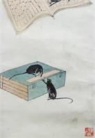 Qi Baishi 1864-1957 Chinese Watercolor Scroll