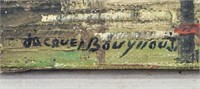 French Oil on Canvas Signed Jacques Bouyssou