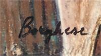 Italian Impressionist Mixed Media Signed Borghese