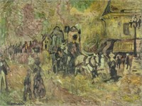 French Post-Impressionist Oil Paper Pierre Bonnard