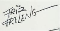 US Pop Art Charcoal Graphite Signed Friz Freleng
