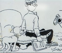 US Pop Art Ink on Paper Comic Signed Chic Young