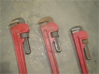 (Qty - 3) Pipe Wrenches-