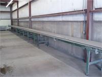 Steel conveyor table
