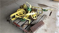 4 cultivator wheels, row marker