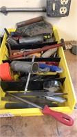 Blades, tape measure, hammer stapler, files,