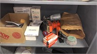 Metal cabinet and contents