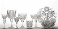 200+ piece collection of Nehemiah Packwood, Sandwich, MA cut glass, most on Dorflinger blanks, that has descended in the family; being deaccessioned by the Strong Museum, Rochester, NY.
