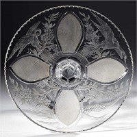 Cut and Engraved Hawkes Tazza signed by William Morse