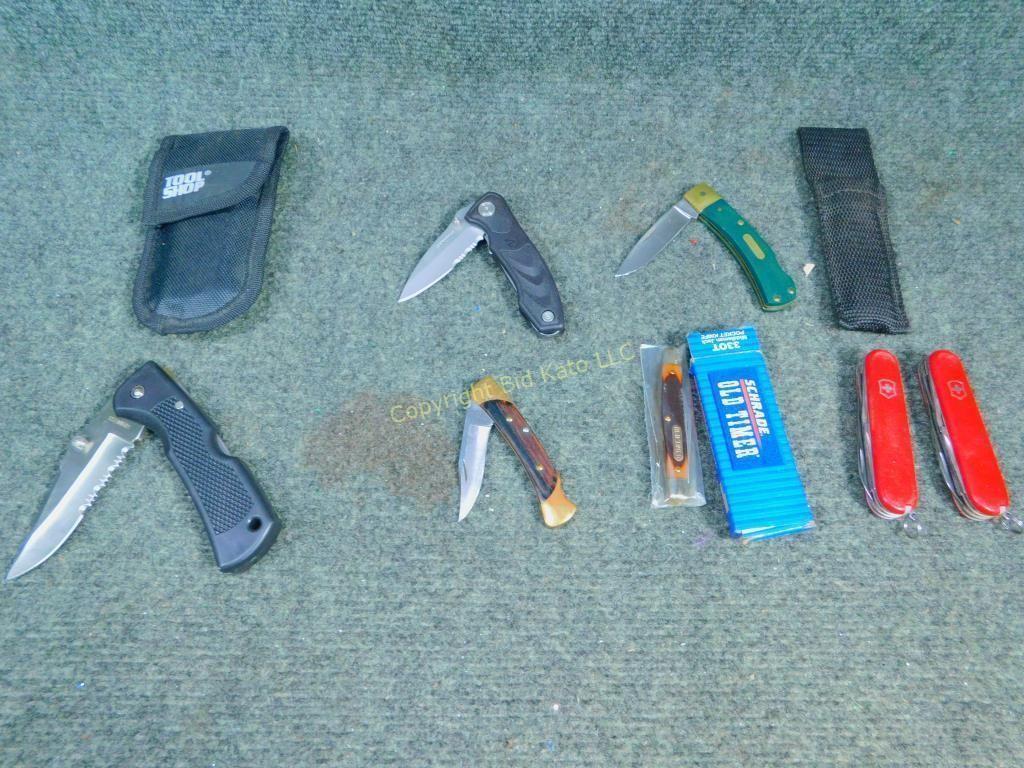 Schrade, Leatherman Pocket Knives   Bid Kato