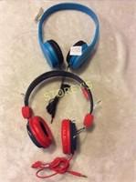 2pc- over the ear headphones