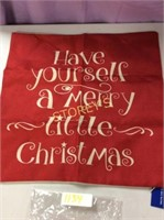"""Throw Pillow Cover """"Have Yourself a Merry Little"""