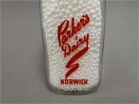 NORWICH PARKERS DAIRY SQUARE 1/2 PINT BOTTLE