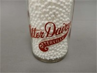RARE OTTER DAIRY 1/2 PINT / RED WRITING