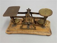 RARE VINTAGE POSTAL STAMP/ WEIGH SCALE