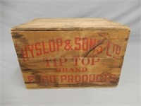 TIP TOP CANNERS OTTERVILLE, ONT. WOODEN CRATE