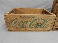 LOT OF 2 COCA-COLA WOODEN BOTTLE CRATES