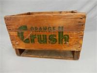 1967 ORANGE CRUSH WOODEN BOTTLE CRATE
