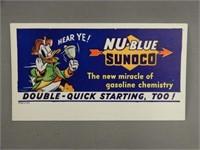 SUNOCO NU-BLUE GASOLINE BLOTTER