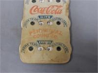 RARE DRINK COCA-COLA BASEBALL PERPETUAL CALENDAR