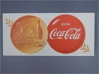 1952 50th ANNIVERSARY COKE BUTTON BLOTTER