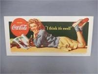 "1942 COCA-COLA ""I THINK IT'S SWELL"" BLOTTER"