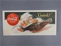 "1953 COCA-COLA ""GOOD"" SPRITE BOY BLOTTER"