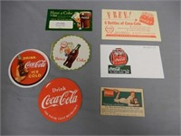 GROUPING OF COCA-COLA COASTERS & COUPONS