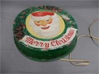 1930'S CHRISTMAS EMBOSSED PLASTIC WINDOW DISPLAY