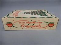 1950'S GLASS CHRISTMAS TREE ORNAMENTS/ BOX