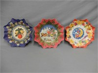 LOT OF 3 1920'S CHRISTMAS PAPER PLATES
