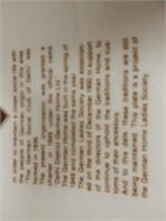 DELHI, ONT. DEUTSCHES HEIM SINCE 1949 PLATE