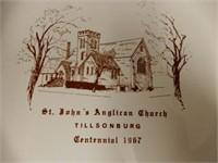 1967 TILLSONBURG ST.JOHN'S  ANGLICAN CHURCH PLATE
