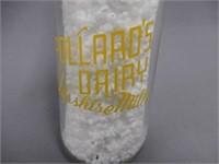 "POLLARD'S DAIRY ""AYRSHIRE MILK"" 1/2 PINT BOTTLE"