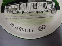 OTTERVILLE WRIGHT-ODDY HOUSE 1861 COLLECTOR PLATE