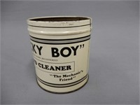 """LUCKY BOY"" HAND CLEANER SPRINGFORD, ONT.  TIN"