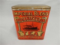 IMPERIAL BLEND TEA  COMPANY TIN