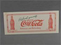 "1926 COCA-COLA ""REFRESH YOUSELF"" BLOTTER"