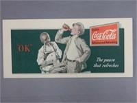 """RARE 1932 COCA-COLA """"OK""""  BLOTTER"""