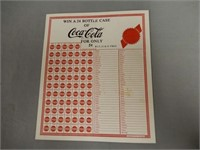 """1940'S COCA-COLA  """"PUNCH OUT""""GAME BOARD"""