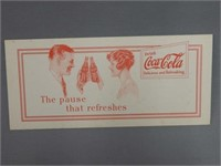 """1929 COCA-COLA """"THE PAUSE THAT REFRESHES"""" BLOTTER"""