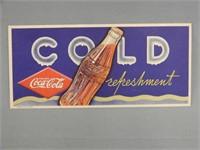 """RARE 1937 COCA-COLA """"COLD REFRESHMENT""""  BLOTTER"""