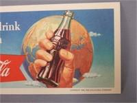 "1956 COCA-COLA "" FRIENDLIEST DRINK EARTH"" BLOTTER"