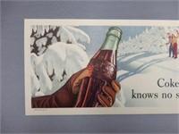 """1947 COCA-COLA """" COKE KNOWS NO SEASON"""" BLOTTER"""