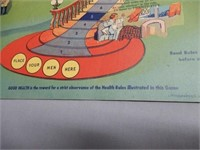 """1938 DRINK COCA-COLA """" STEPS TO HEALTH"""" GAMEBOARD"""