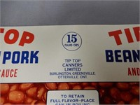 LOT OF 9 TIP-TOP CANNER'S OTTERVILLE  LABELS