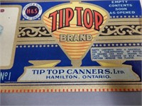 LOT OF 8 TIP-TOP CANNER'S HYSLOP & SON'S  LABELS
