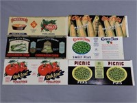 LOT OF 6 TIP-TOP CANNER'S OTTERVILLE  LABELS
